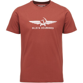 Black Diamond Perestroika Camiseta Manga Corta Hombre, brick